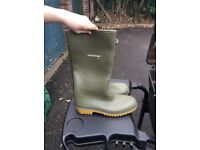 Dunlop men's Wellington boots, green and size 11