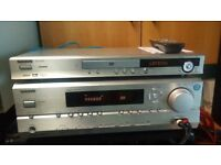 Onkyo 7.1 home cinema amplifier TX-SR504E & DVD player DV-SV404E in working order & good condition