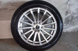 ALLOYS X 4 OF 19 INCH GENUINE RANGEROVER/DISCOVERY/FULLY POWDERCOATED IN A STUNNING SHADOW/CHROME