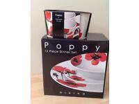 Brand new crockery set and matching mugs
