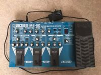 Boss ME-50 Guitar Effects Unit with Replacement Power Supply