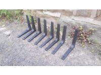 Ikea EKBY STÖDIS Stodis Shelf Brackets Black Plastic Set of 8 Eight 301.674.61