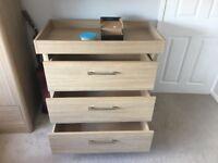 Mamas and papas 3-piece nursery furniture