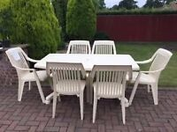 Hartman table and 6 chairs