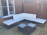 Rattan style sofa set