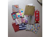 12 gift bags, various sizes