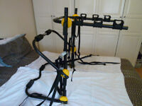HALFORDS REAR HIGH MOUNTED 3 BICYCLES BIKE CARRIER/RACK...
