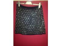 Embellished TOPSHOP skirt - size 10
