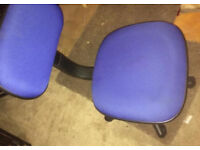 Small Blue computer chair good condition £5
