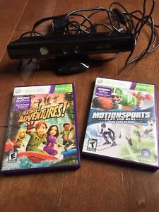 Kinect console and 2 games for Xbox 360