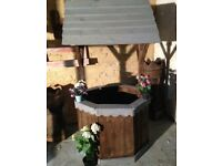 Large handmade wooden well