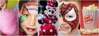 Face Painting, Glitter Tattoos, Balloon Twisters for any event