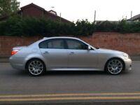 "2007 07 BMW 535D M SPORT A SILVER LCI FACELIFT 19"" SPIDER ALLOYS PRO SAT NAV 1 PREV OWNER TWIN TURBO"