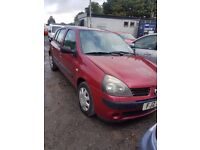 2002 renault clio 1.2 petrol breaking for parts