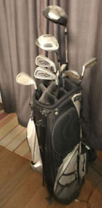 Set of used Tour Trac Golf Clubs with case. Right handed.