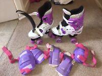 Child's Adjustable Roller Skates Size 13-3