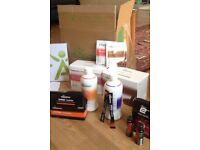 Complete isagenix weight loss and muscle build supplement set inc sports drink mix and caffeine shot