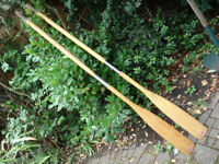 Pair of Plastimo Jointed Wooden Oars - 1.8m