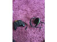 Xbox 1 remote and headset