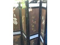 Vintage wooden screen
