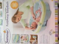 Baby bath foldaway