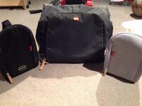 Black large PacaPod Baby Change Bag