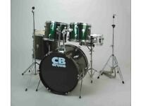 CB Drum Kit with hardware and practically new Evans Hydraulic Black Skins