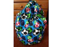 Kaikoo blue football bean bag