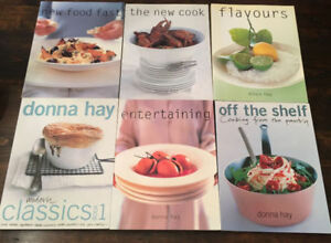6 Donna Hay Cookbooks VG condition text 902-433-5959