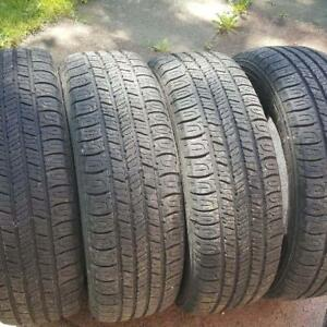 SUMMER TIRES- ONE SEASON OLD - 185/65R14