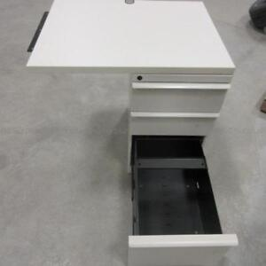 End Piece Office Desk with File Cabinet and Drawers