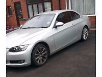 Silver BMW 320I SE Convertible