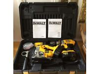 DeWalt DC925 drill, DC330 jigsaw combo pack, Excellent condition!!