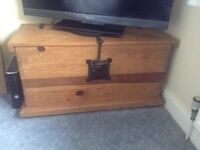 Wooden chest trunk