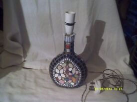 "A PRETTY "" MOSAIC "" TABLE LAMP"