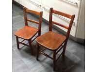 2 Vintage children's wooden seats