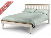Ex Display Julian Bowen Salerno Shaker Double Bed Two Tone View Collect Kirkby NG177