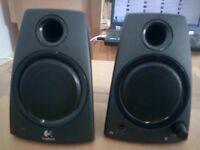 2 Logitech Stereo Speakers