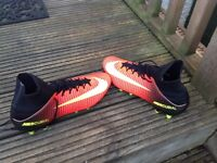 Nike mercurial red sock football boots size 9