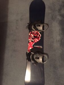 Rossignol snow board and bindings