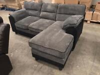 New grey chaise corner sofa