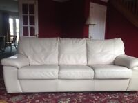 DFS Sofa bed leather cream
