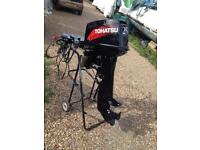 2012 Tohatsu outboard 25 hp long shaft electric start on remotes AS NEW