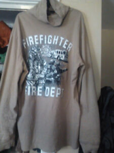 polo turtle neck with fire fighter scene
