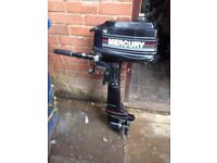 MERCURY BLACKMAX 4HP OUTBOARD SHORTSHAFT