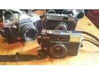 Vintage 35mm camera x3, praktica, cosmic, halina