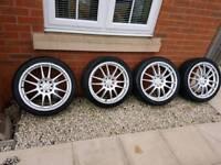 17 inch alloy wheels multi fit ford 4x108 4x100