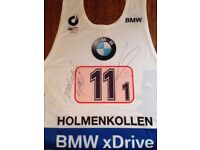 Originally autographed starting bib from Biathlon World Cup