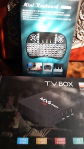 Android TV box and backlit keyboard