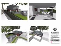 Planning consent for a 2x -bed chalet style detached house in DA8 Area with current monthly income